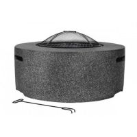Cylinder fire pit Dark Grey Colour
