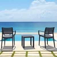 2 Artemis Chairs with Ocean Square Table in Grey