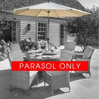 3m Luxury Silver/Dove Parasol