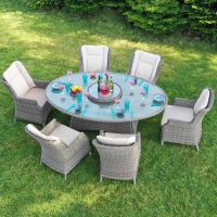 Boston 6 Seaters Oval Dining Set