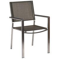 Alexander Rose Cologne Stacking Armchair with Graphite Sling