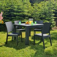 Florida Vegas 4 Seat Dining Set with Extending 4-6 Seat Table