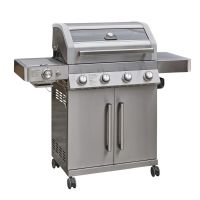 Grillstream Gourmet 4 Burner Hybrid with Steak Shelf - Stainless Steel