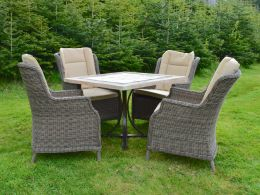 Killiney 4 Seat Square Set with boston Chairs