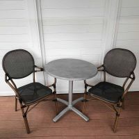 Lyon Carver City Round Folding Bistro Set