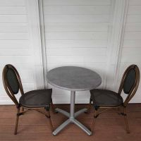 Lyon City Round Folding Bistro Set