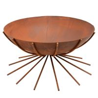 Outdoor Metal Dakota Firebowl in Rust