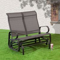 Savannah Charcoal Twin Seat Glider