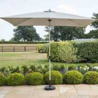 Rectangular Parasol 3 Meter by 2 Metre – Grey