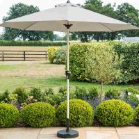 Round Parasol 3.0m in Grey