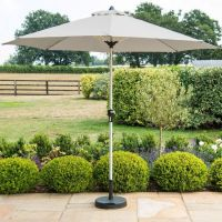 Round Parasol 2.7m in Grey