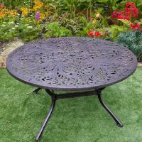 Sapphire 6 Seater Round Table in Bronze